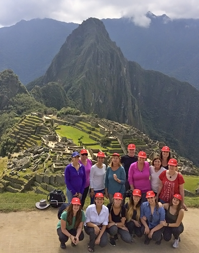 Photo of teachers at Machu Picchu in June, 2017